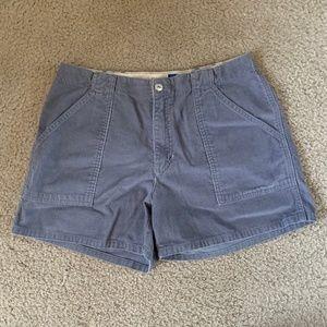Lavender-Gray Corduroy Shorts